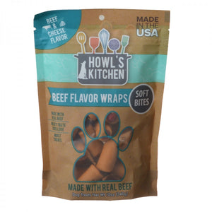 Howl's Kitchen Beef Flavor Wraps Soft Bites - Beef & Cheese Flavor
