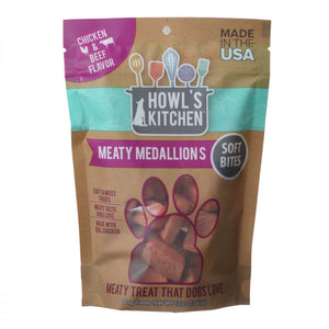 Howl's Kitchen Meaty Medallions Soft Bites - Chicken & Beef Flavor