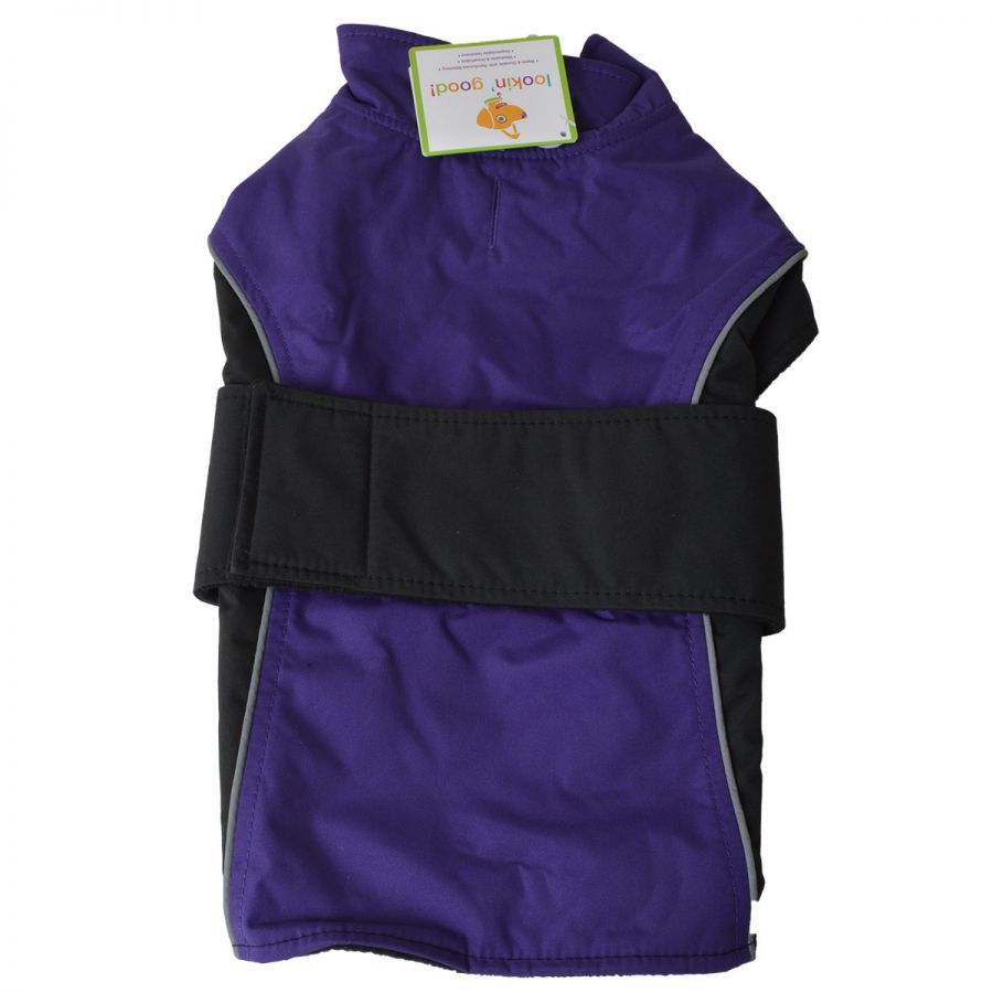 Lookin' Good Waterproof Reflective Dog Coat - Purple