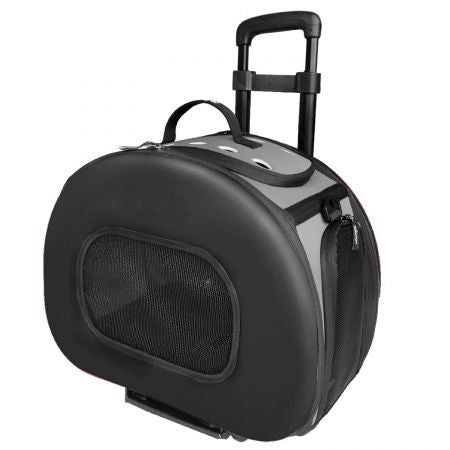 Pet Life Wheeled Tough-Shell Collapsible Pet Carrier