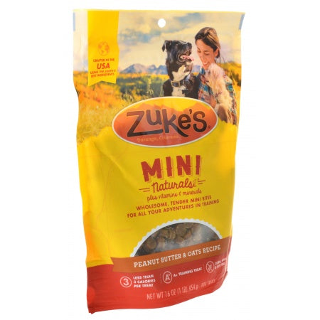 Zukes Mini Naturals Dog Treats - Peanut Butter & Oats Recipe