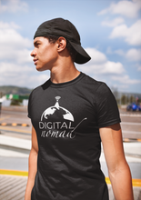 Load image into Gallery viewer, Digital Nomad Globe T-Shirt - NomadCulture - T-Shirt for Remote Workers and Digital Nomads
