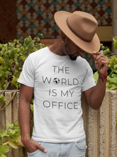 Load image into Gallery viewer, The World Is My Office T-Shirt - NomadCulture - T-Shirt for Remote Workers and Digital Nomads