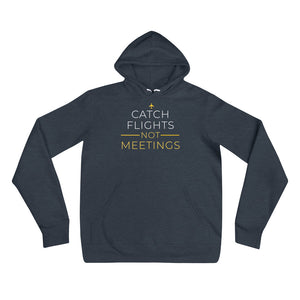 Catch Flights Hoodie - NomadCulture - T-Shirt for Remote Workers and Digital Nomads