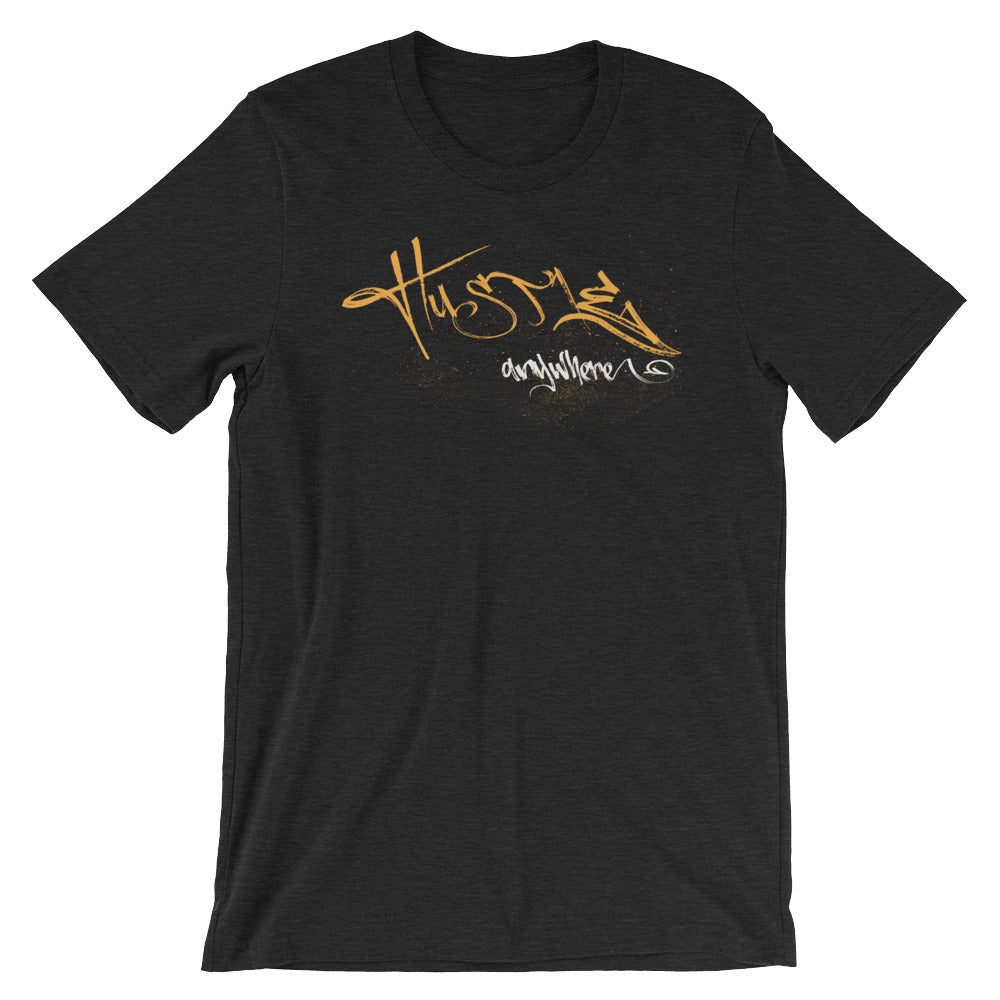 Hustle Anywhere Tee - NomadCulture - T-Shirt for Remote Workers and Digital Nomads