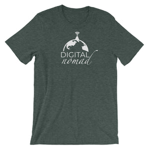 Digital Nomad Globe T-Shirt - NomadCulture - T-Shirt for Remote Workers and Digital Nomads