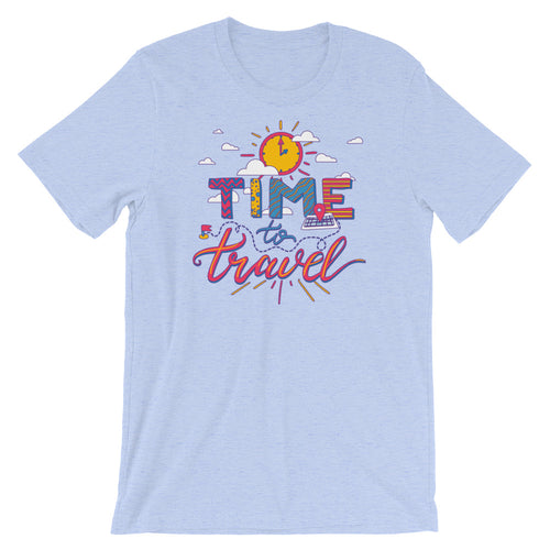 Time to Travel Tee - NomadCulture - T-Shirt for Remote Workers and Digital Nomads