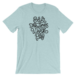 Blur the Lines T-Shirt - NomadCulture - T-Shirt for Remote Workers and Digital Nomads