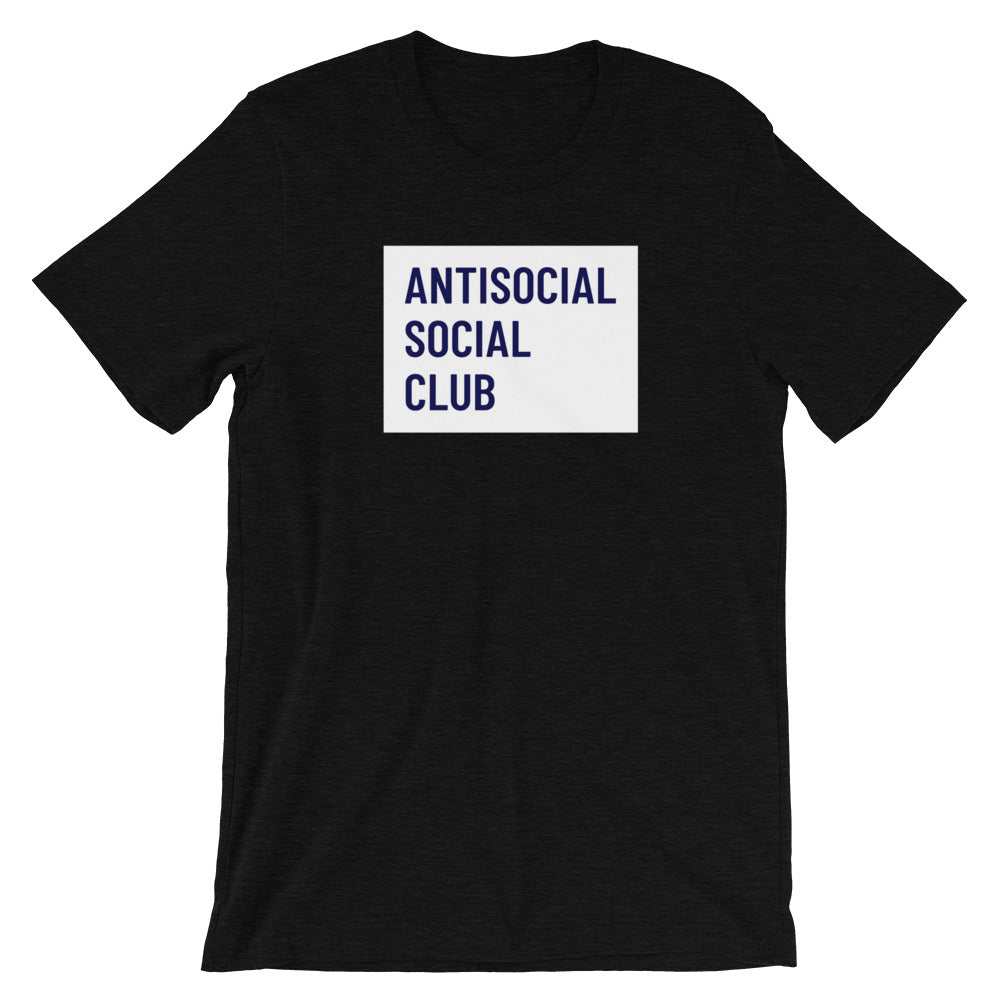 Antisocial Social Club T-Shirt - NomadCulture - T-Shirt for Remote Workers and Digital Nomads
