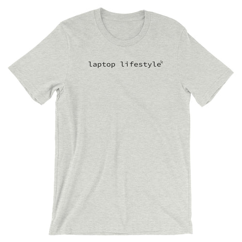 Laptop Lifestyle T-Shirt - NomadCulture - T-Shirt for Remote Workers and Digital Nomads