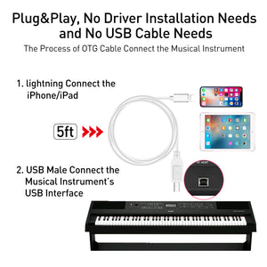 USB 2.0 Adapter OTG Audio Interface 5lf iPhone