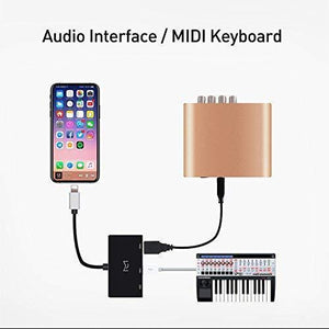 Meloaudio Otg Cable Carrying Additional Interfaces