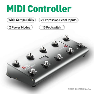 MeloAudio MIDI Commander Guitar Floor Multi-Effects Portable USB MIDI Foot Controller Foot Switches