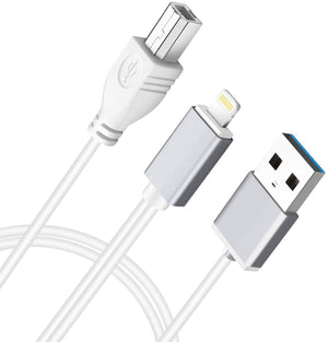 MeloAudio USB 2.0 cable Type B to Midi cable OTG cable and charging cable compatible iOS device to Midi controller