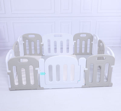 Baby Playpen Kids Activity Centre Safety Sturdy Play Pen Yard - Grey