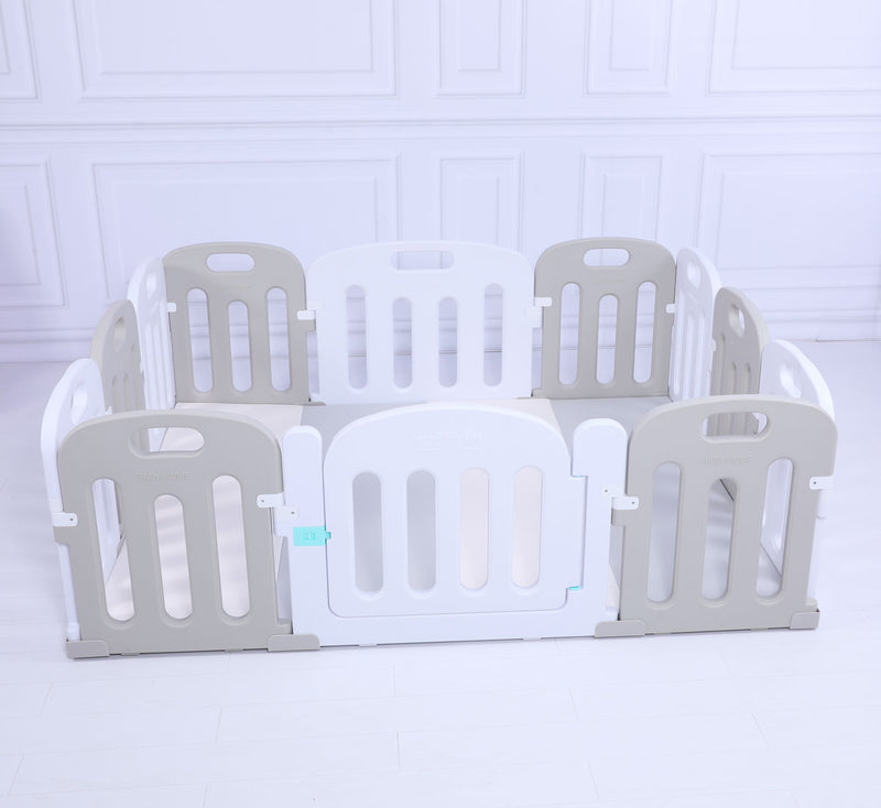 Baby Playpen Kids Activity Centre Safety Play Yard Home Indoor - Grey