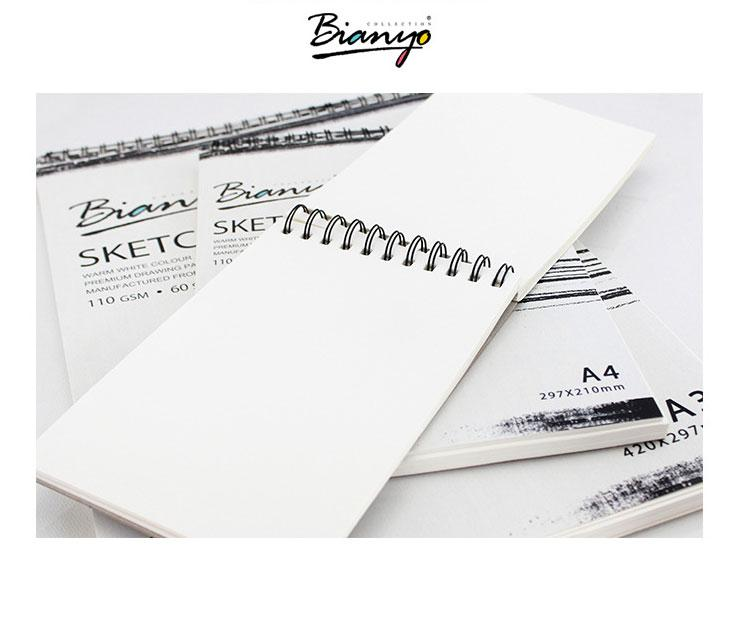 2 Pack A3 Sketch Pad Book 110 GSM/60 Sheets