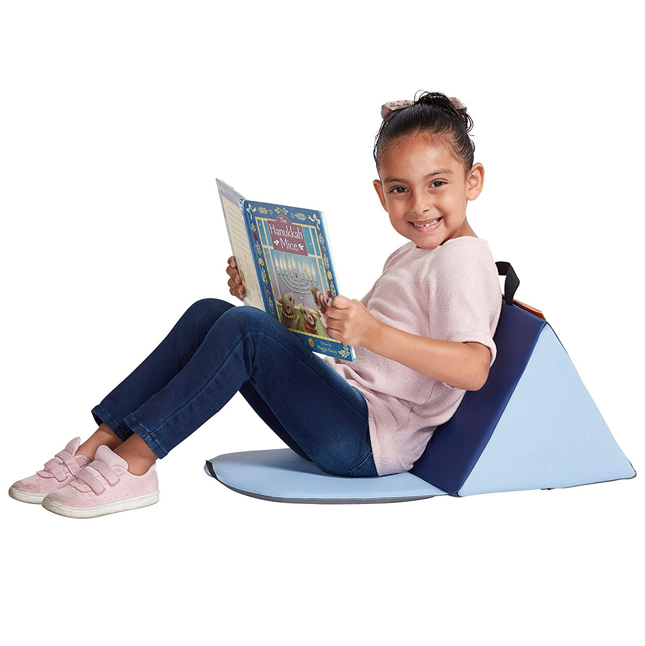 Kids Soft Block Sofa Carrying Reading Seat Cushion - Blue