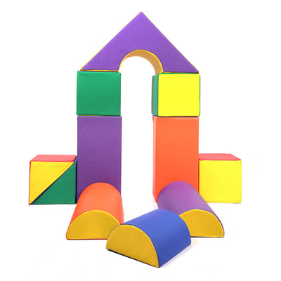 Baby Toddler Large Soft Foam Building Block Indoor Foam Castle Playset 11pcs Size L