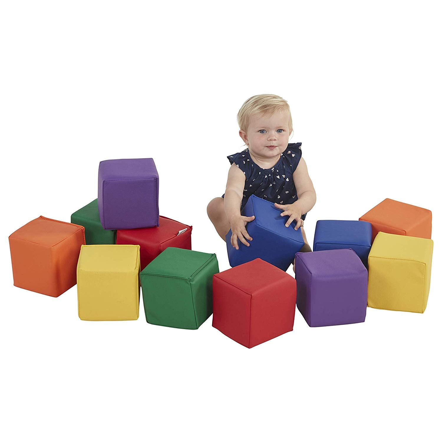 Baby Toddler Soft Block Playset Safe Active Playroom Building Blocks 12pcs