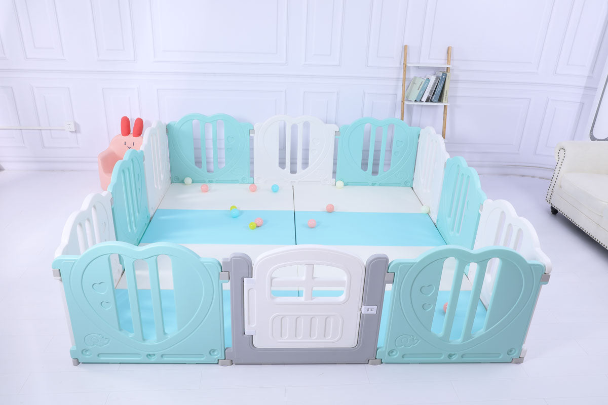 Baby Playpen Kids Activity Centre Safety Play Yard Home Indoor 221x221cm