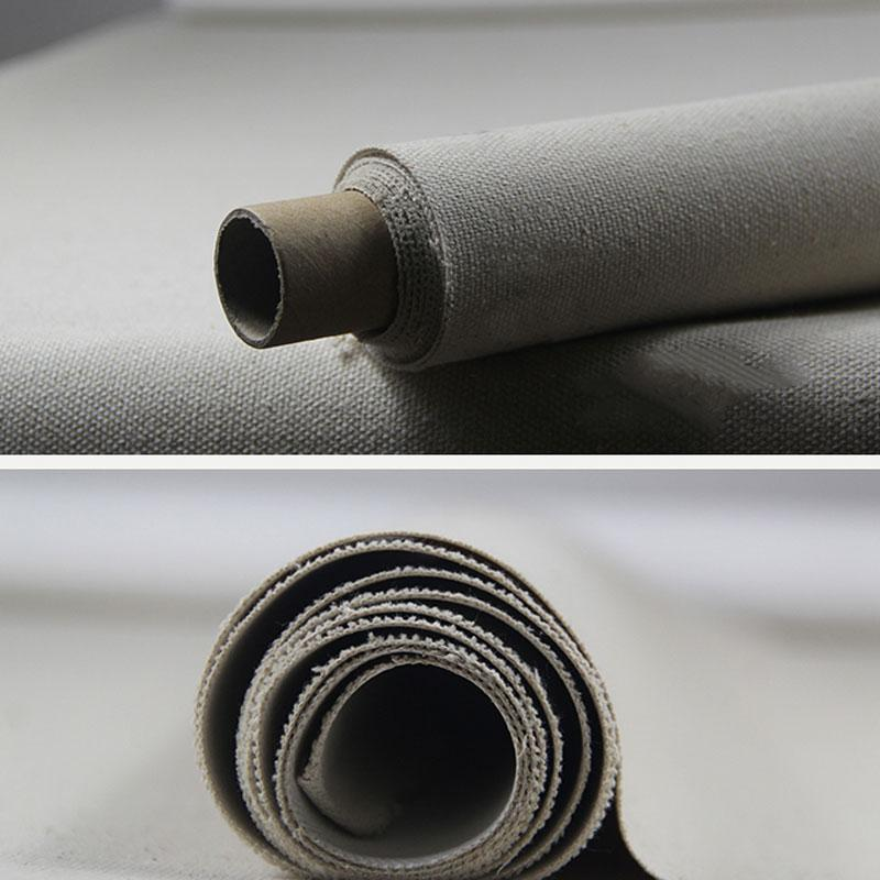 10m Roll Triple Primed Artist Canvas Roll 1.7m Width - Medium Texture, Linen&Cotton Blend
