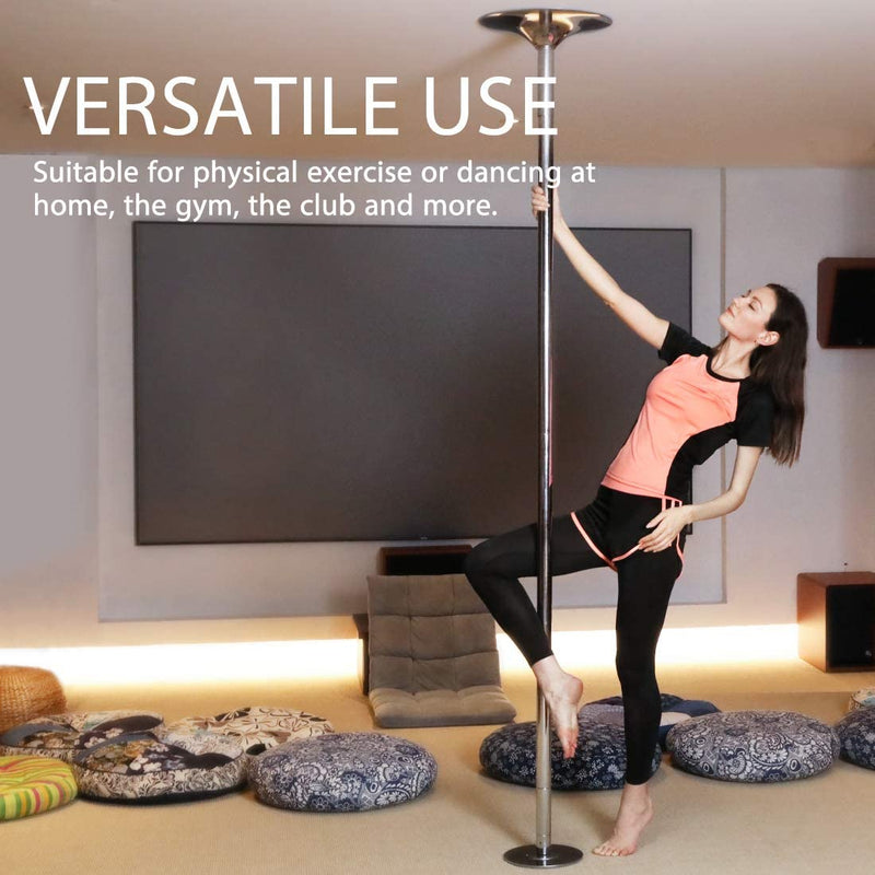 Portable Dancing Pole Kit - Static & Spinning Fitness Pole Dancing Set