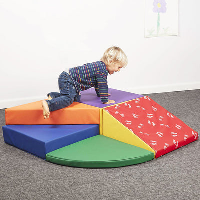 Baby Toddler Kids Large Soft Foam Block Indoor Active Play Toys Corner Climber 5pcs