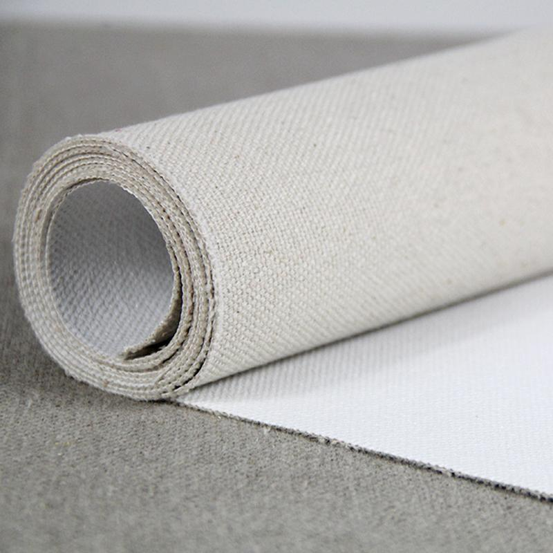 5m roll 22oz Triple Primed Artist Canvas Roll 1.7m Wide - Rough Texture, Cotton Duck