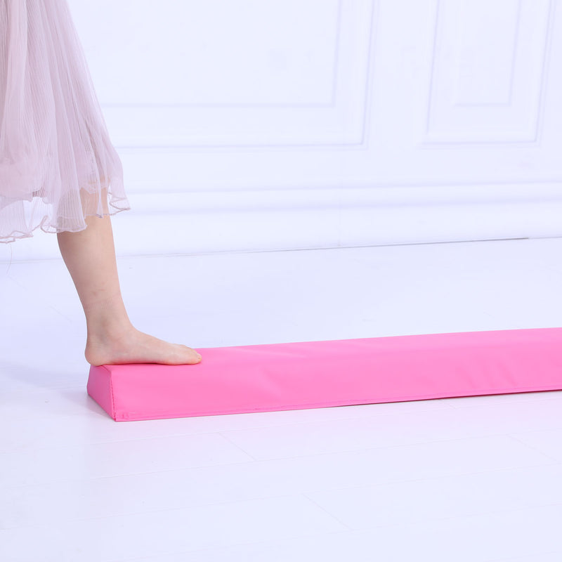 Starter Folding Gymnastics Balance Beam Practice Safe Balance Beam for Kids - Pink