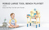 Large Kids Tool Stand Set Wooden Workbench Toy Pretend Play