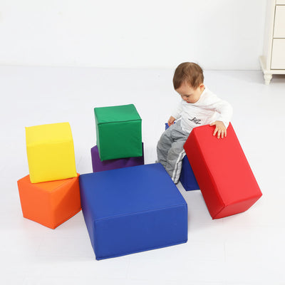 Baby Toddler Large Soft Block Playset Safe Active Playroom Building Blocks 7pcs