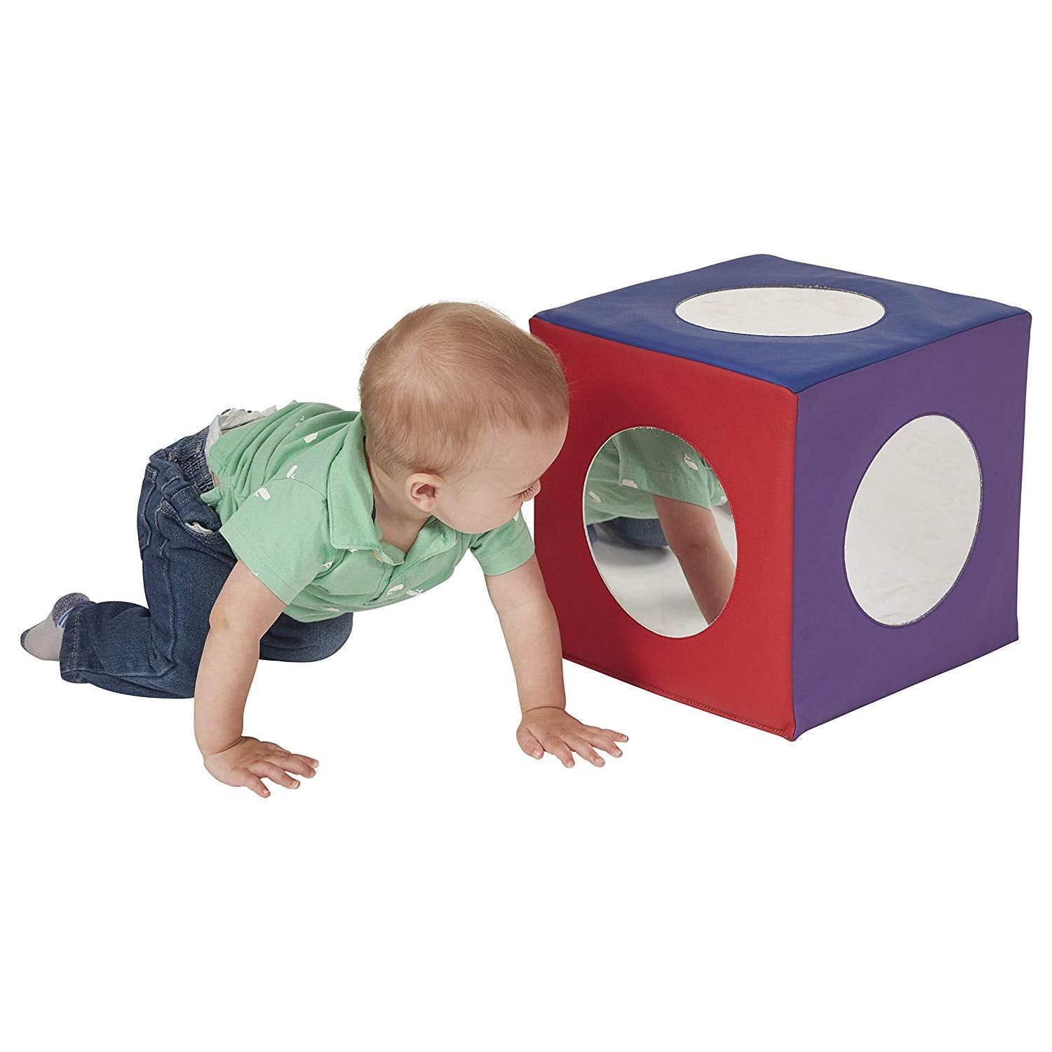 Baby Toddler Large Soft Foam Block Mirror Cube Foam Sensory Toy Play Block