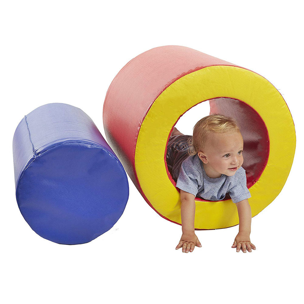 Baby Toddler Large Soft Foam Block Toys Tumble n' Roll Barrels of Foam Playset 2PCS