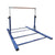Advanced Gymnastic Horizontal Bar Long Base Training Bar Adjustable Height Kip Bar (Blue)