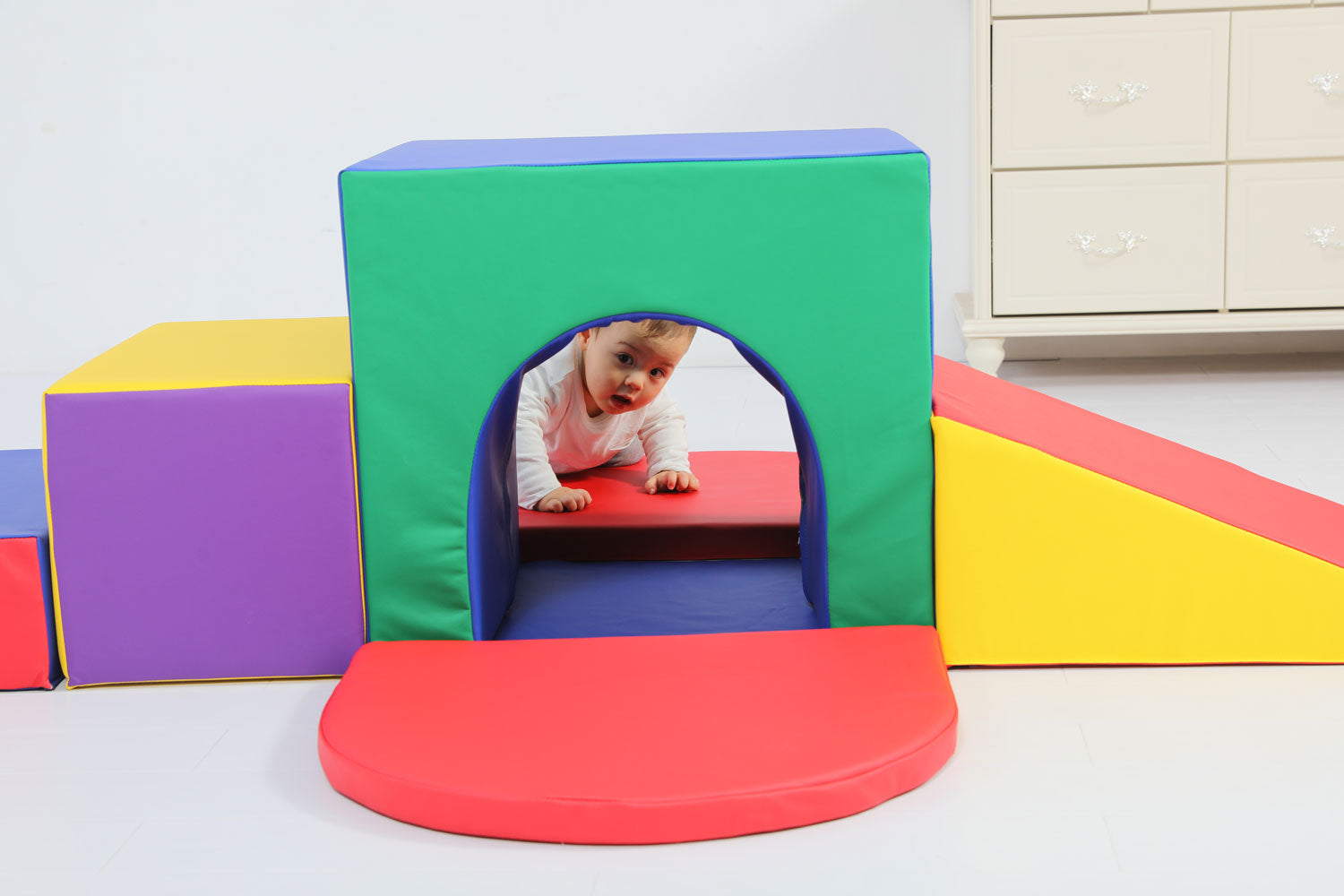 Baby Toddler Large Soft Foam Block Indoor Tunnel Maze Climber Foam Playset 6pcs