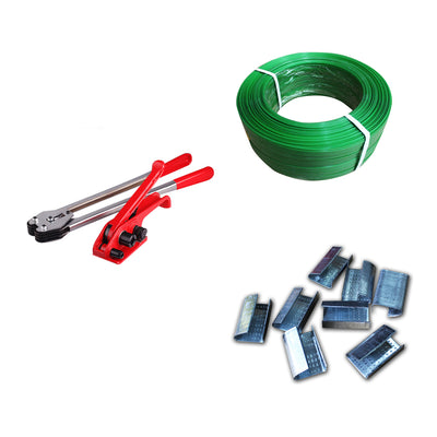 All in 1 Manual Heavy Duty Strapping Packing Tools Set