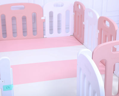 Baby Playpen Kids Activity Centre Safety Sturdy Play Pen Yard - Pink