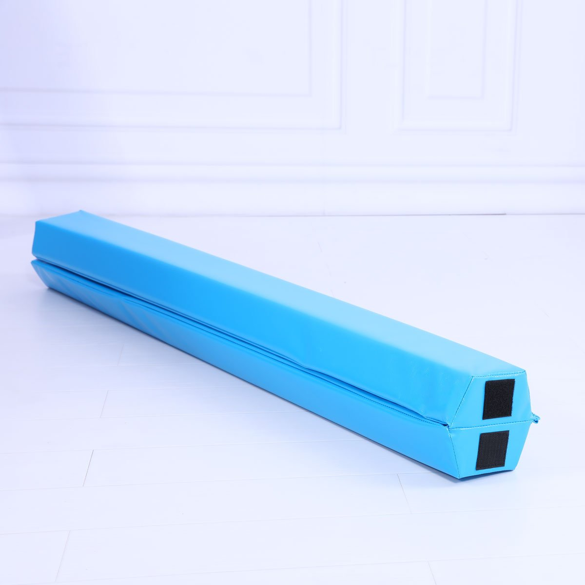 Starter Folding Gymnastics Balance Beam Practice Safe Balance Beam for Kids 240cm/270cm - Blue