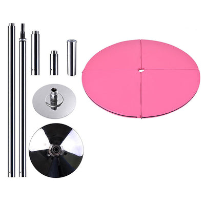 Portable Pole Dancing Set Dancing Pole with 160cm Dancing Mat - Pink