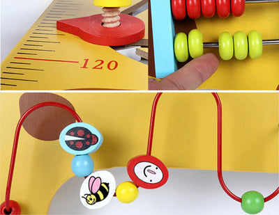 Kids Height Measurement Growth Chart Ruler with Interactive Toys
