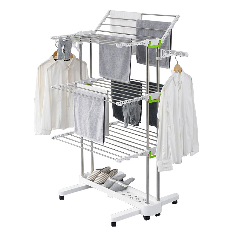 Large Foldable Rolling Clothes Airer Laundry Drying Rack