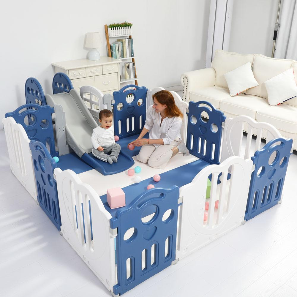 Baby Playpen Kids Activity Centre Safety Play Yard Home Indoor 173x197cm