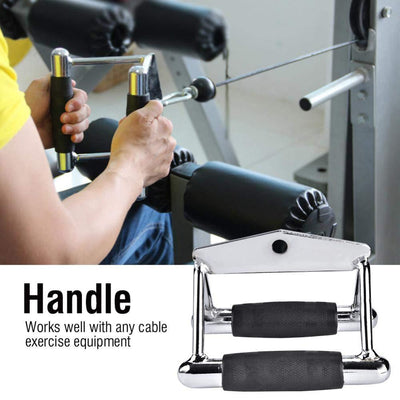 3 in 1 set Tricep Rope Extension + Single Handle + Triangle V Bar Gym Cable Attachment
