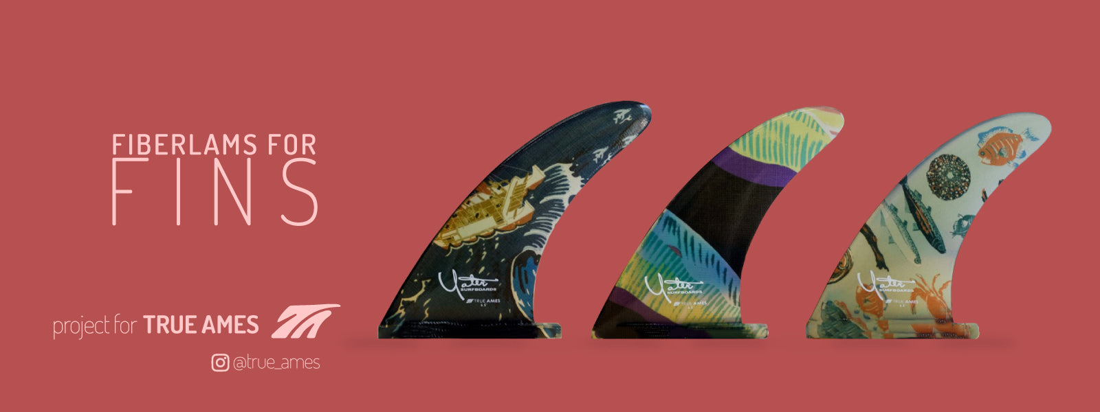 BoardLams + True Ames - Printed Fiberglass for fins