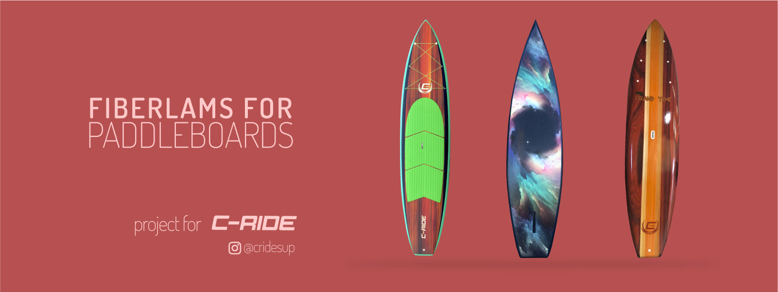 BoardLams + C-RIDE SUP - Printed Fiberglass
