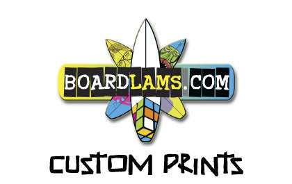 Custom printed graphics for surfboards, skimboards, SUP, surfboard fins, paddles, wake surfers and more