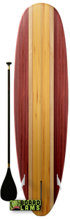 Cherry Panels & Maple Center Stripes