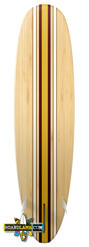 Maple With Classic Red & Gold Racer Stripes