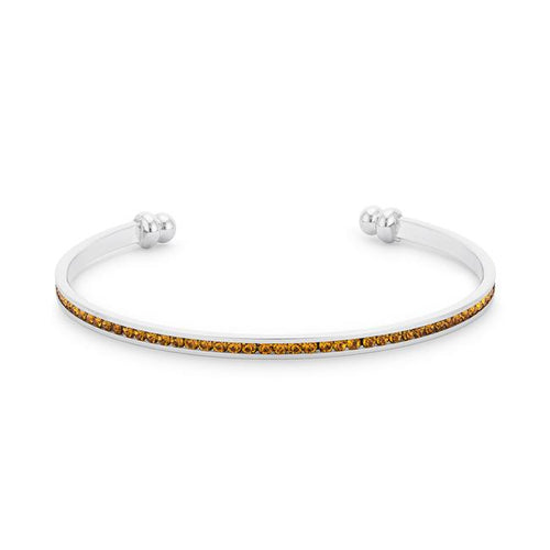 Channel-Set Canary Cubic Zirconia Cuff
